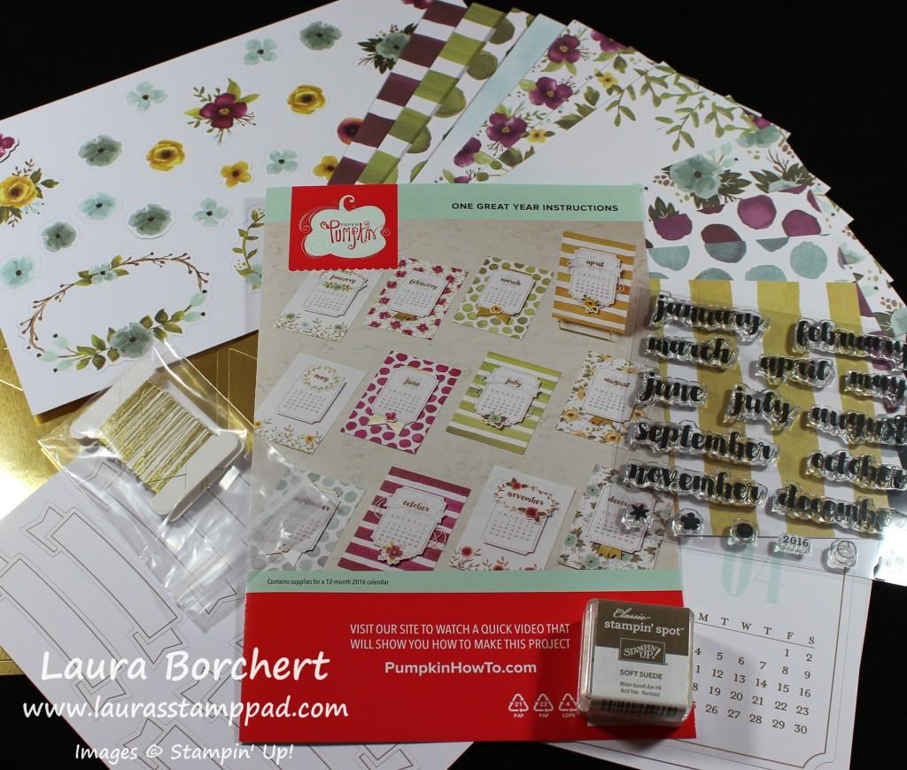 2016 Desk Calendar Kit, www.LaurasStampPad.com