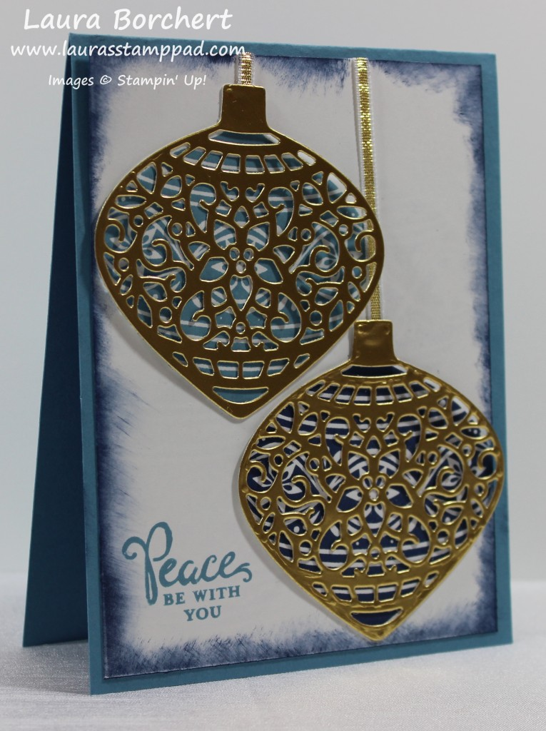 Golden Ornaments, www.LaurasStampPad.com