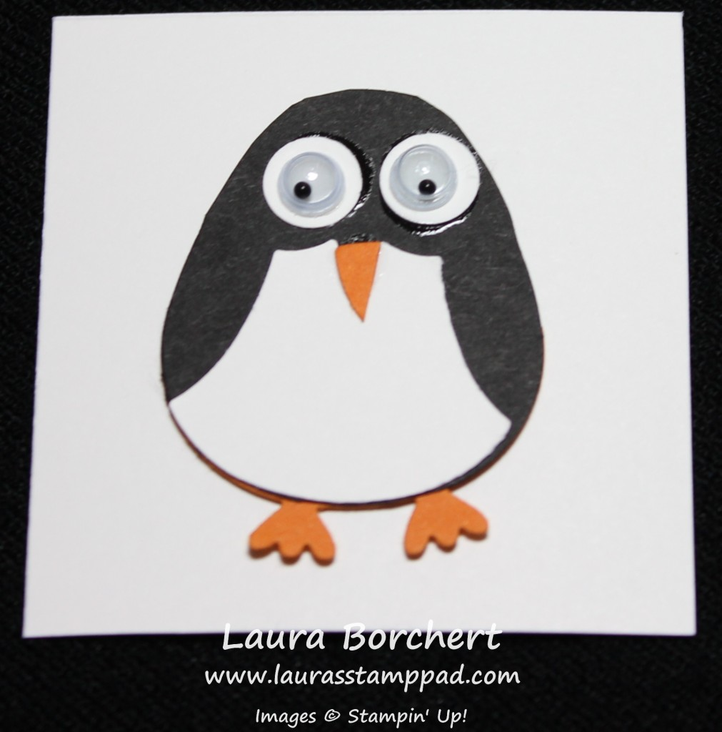 Penguin Punch Art, www.LaurasStampPad.com