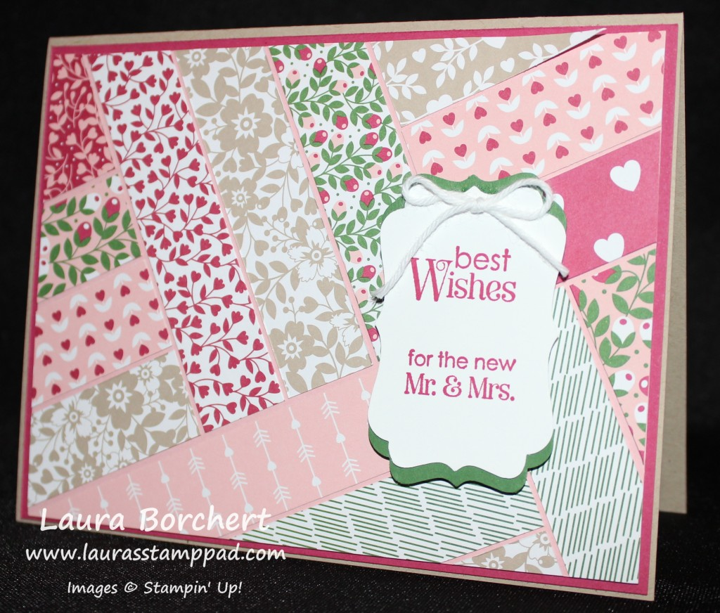 Quilted Wedding Card, www.LaurasStampPad.com