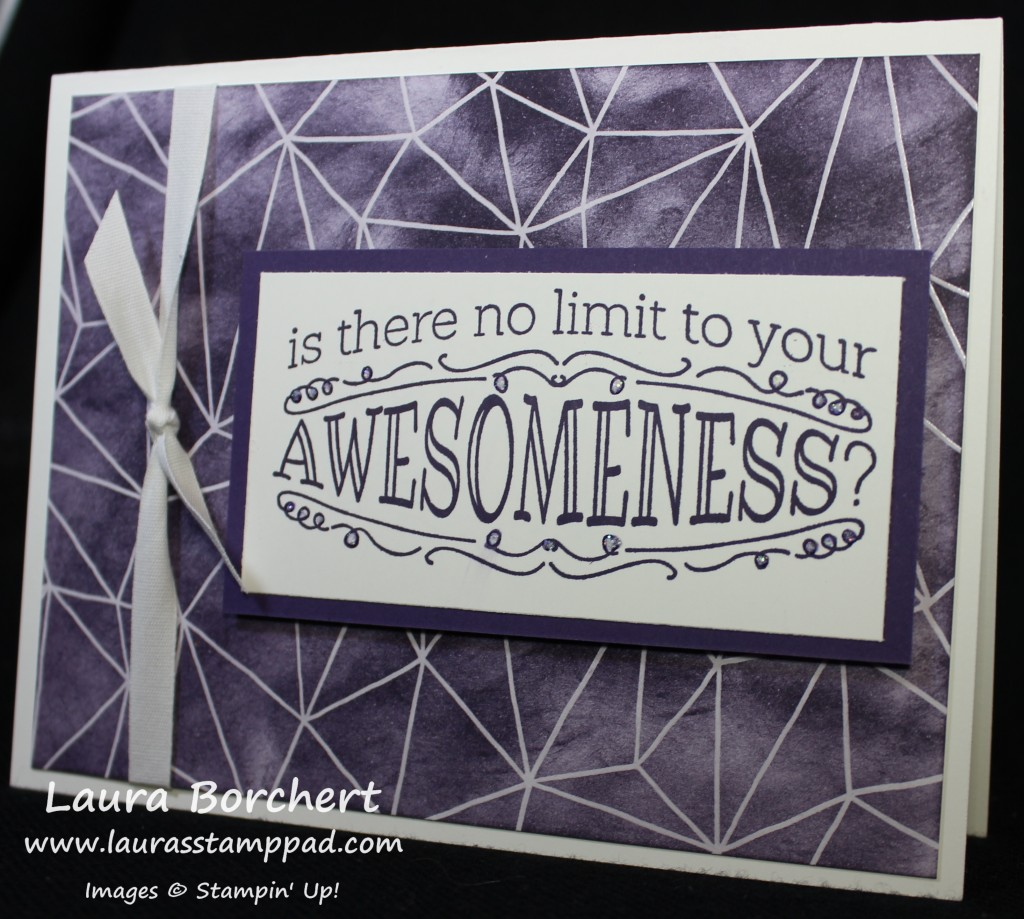 Awesome Emboss Resist, www.LaurasStampPad.com