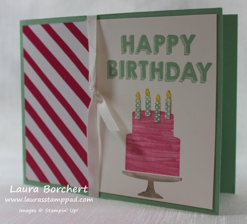Birthday Cake, www.LaurasStampPad.com
