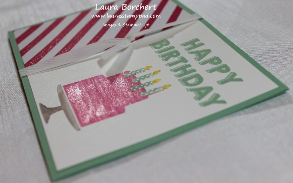 Glitter Cake, www.LaurasStampPad.com
