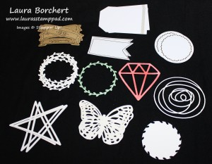 Die Cut Pieces, www.LaurasStampPad.com