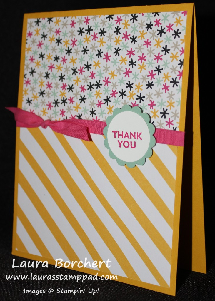 Thank You Party Paper, www.LaurasStampPad.com