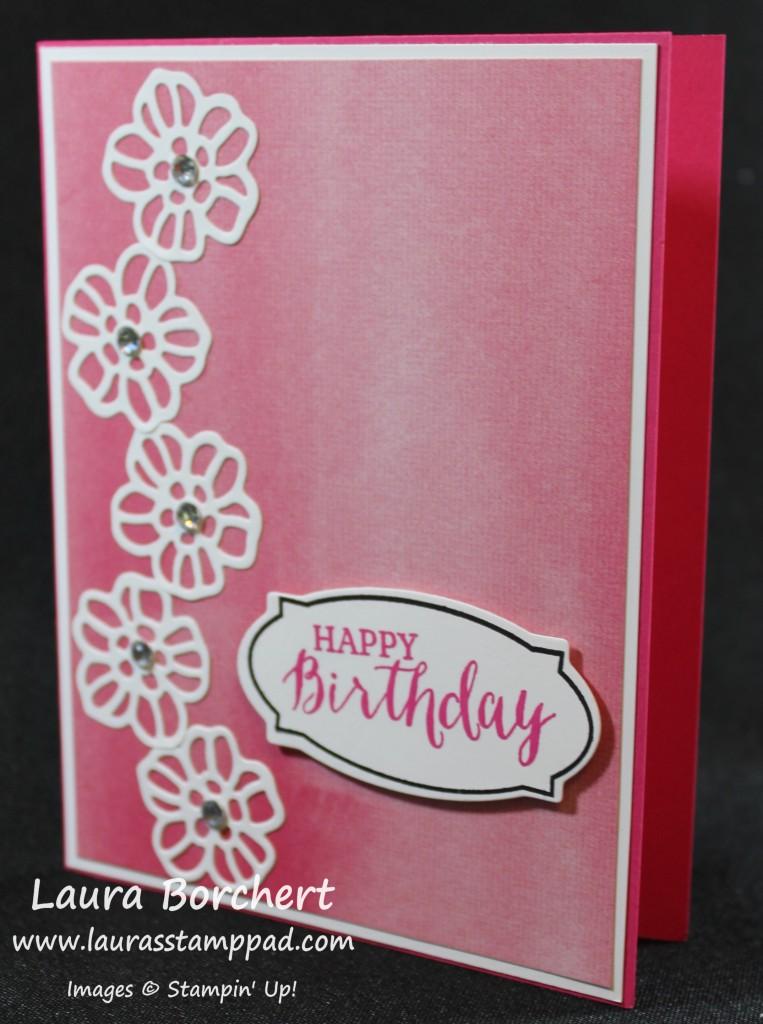 Birthday Flowers, www.LaurasStampPad.com
