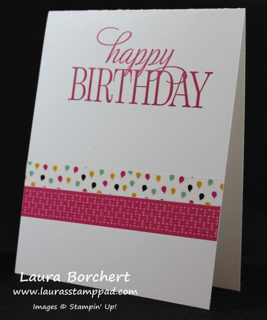Birthday Washi Card, www.LaurasStampPad.com