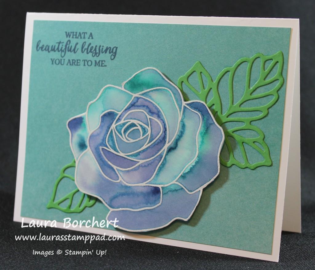 Blue Roses, www.LaurasStampPad.com
