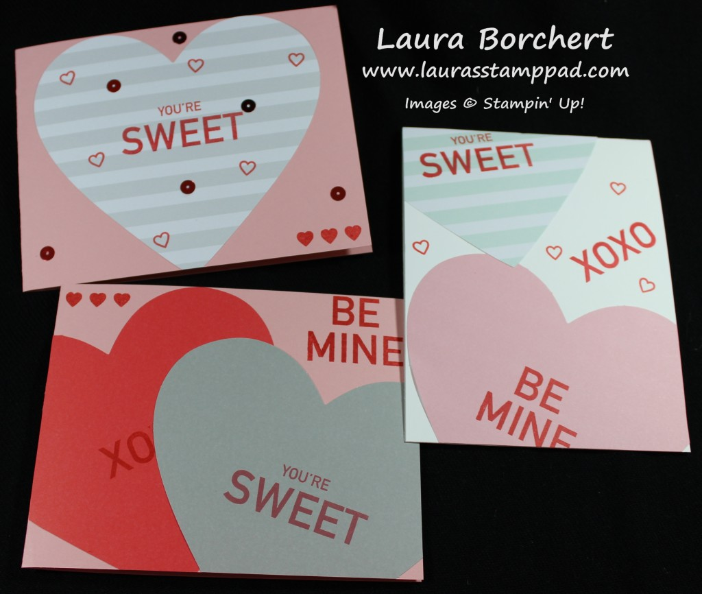 Conversation Heart Cards, www.LaurasStampPad.com