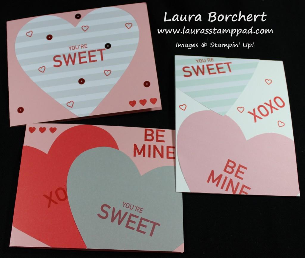 Conversation Heart Cards, www.LaurasStampPad.com