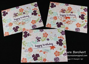Flower Cards, www.LaurasStampPad.com