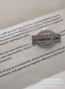 Stampin' Up Award, www.LaurasStampPad.com