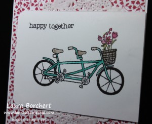 Tandem Bike, www.LaurasStampPad.com