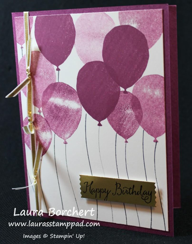 Purple Balloons, www.LaurasStampPad.com