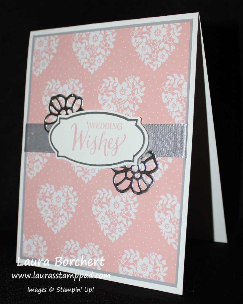 Silver Wedding Card, www.LaurasStampPad.com