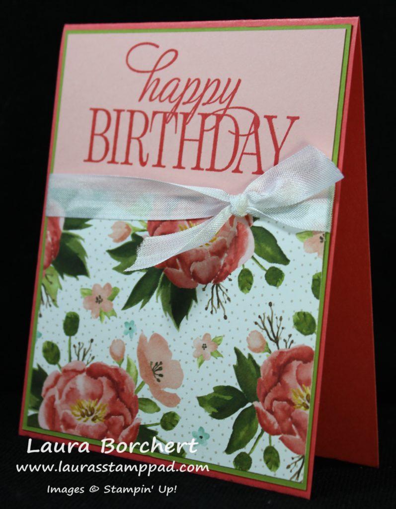 Birthday Peonies, www.LaurasStampPad.com