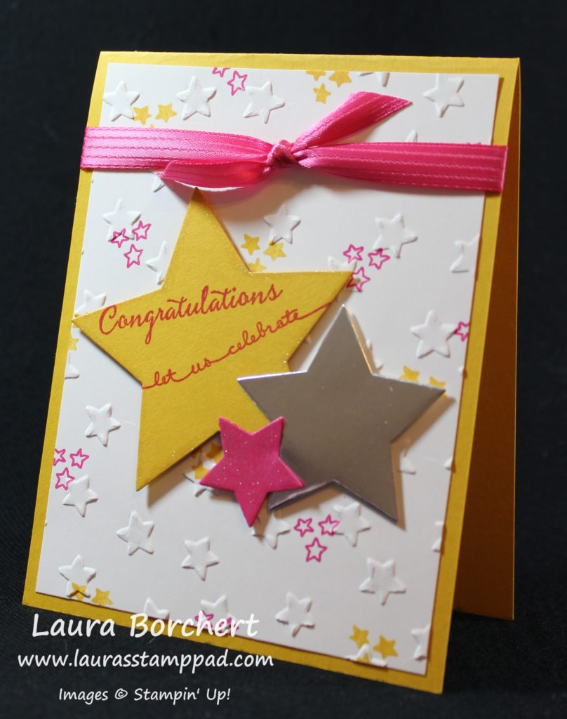 Celebrate with the Stars, www.LaurasStampPad.com
