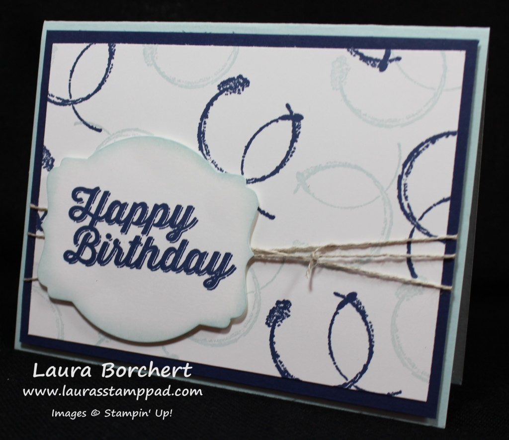 Birthday Boy Card, www.LaurasStampPad.com