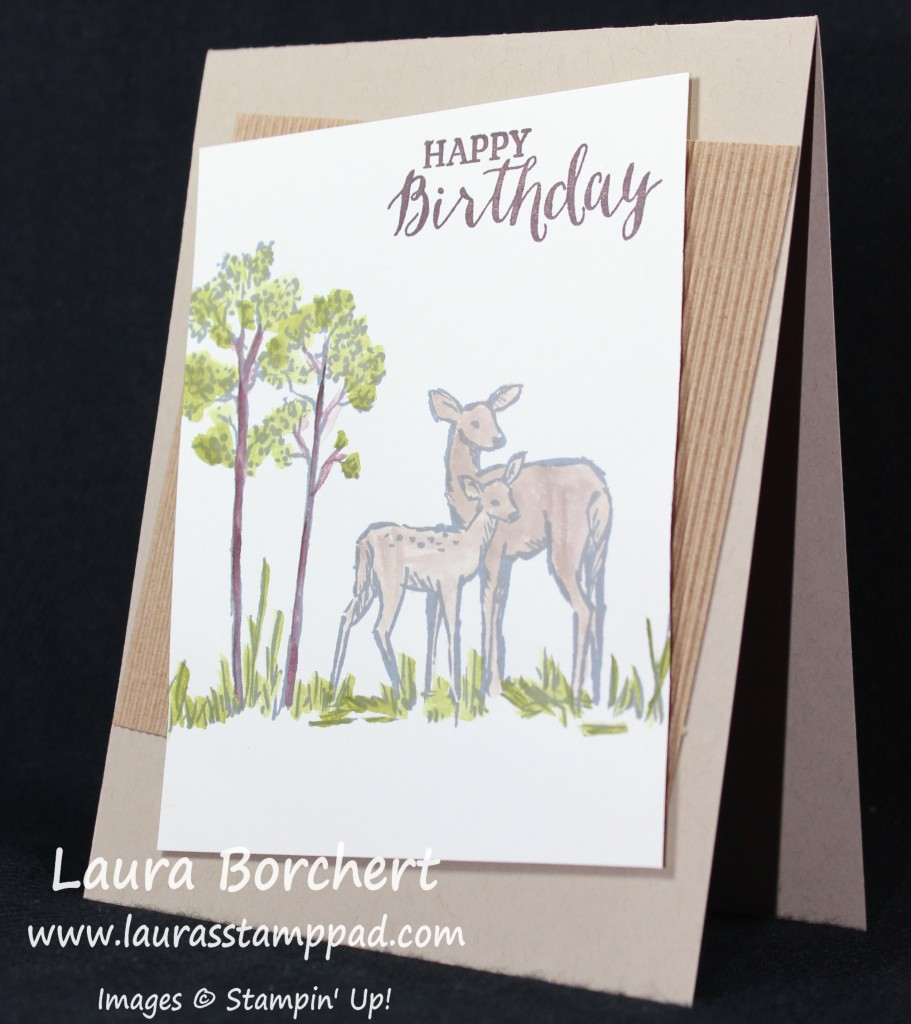 Deer in the Trees, www.LaurasStampPad.com