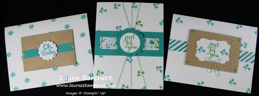 Flower Background Cards, www.LaurasStampPad.com