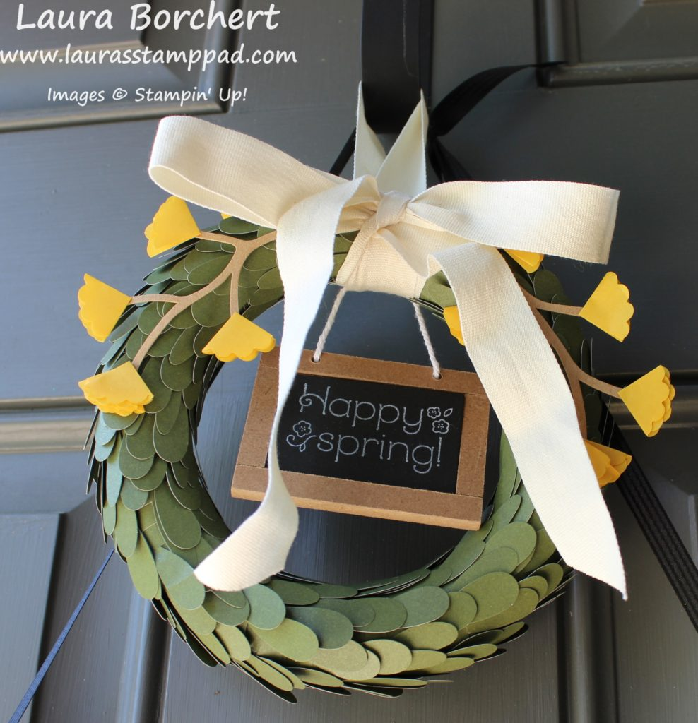 Home Decor Wreath, www.LaurasStampPad.com