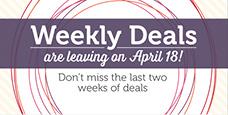Weekly Deals Ending, www.LaurasStampPad.com
