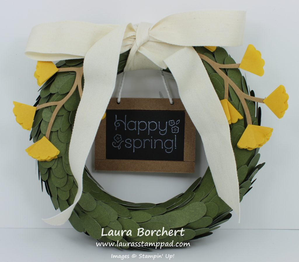 Mini Wreath, www.LaurasStampPad.com
