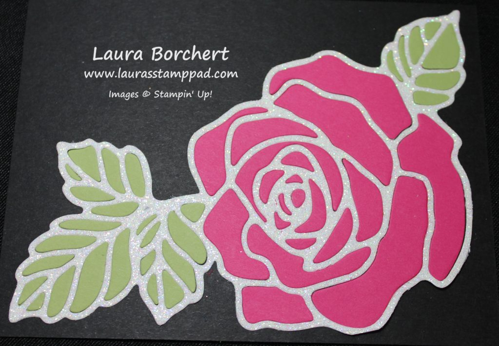 Pink Roses, www.LaurasStampPad.com