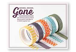 Going Going Gone, www.LaurasStampPad.com