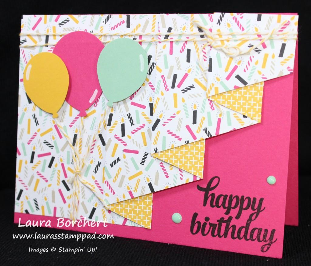 It's My Party Drapery Fold, www.LaurasStampPad.com