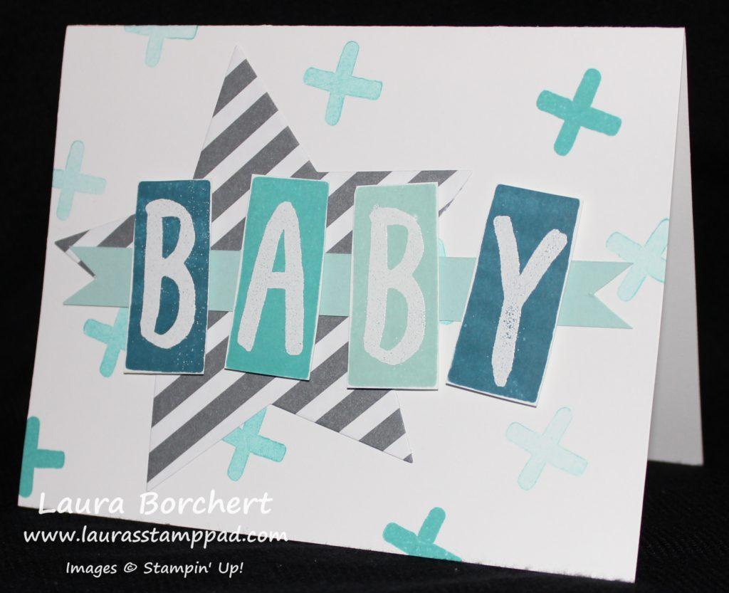 Baby Boy Block, www.LaurasStampPad.com