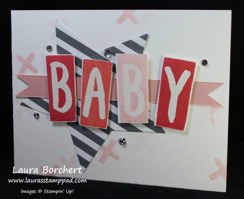 Baby Block Card, www.LaurasStampPad.com