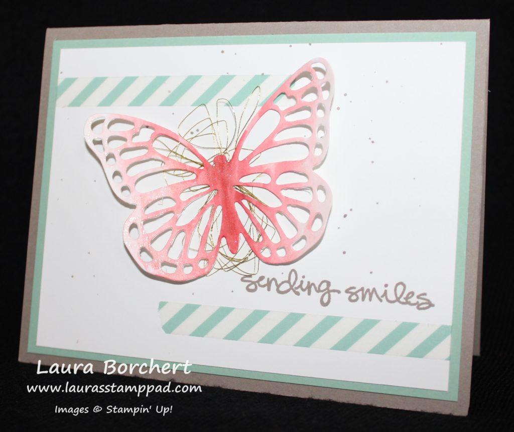 Ombre Butterfly, www.LaurasStampPad.com