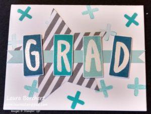 Grad Block Card, www.LaurasStampPad.com