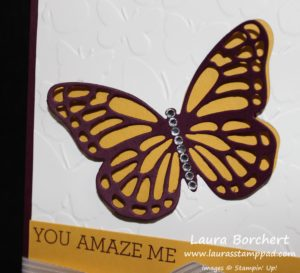 Beautiful Butterfly, www.LaurasstampPad.com