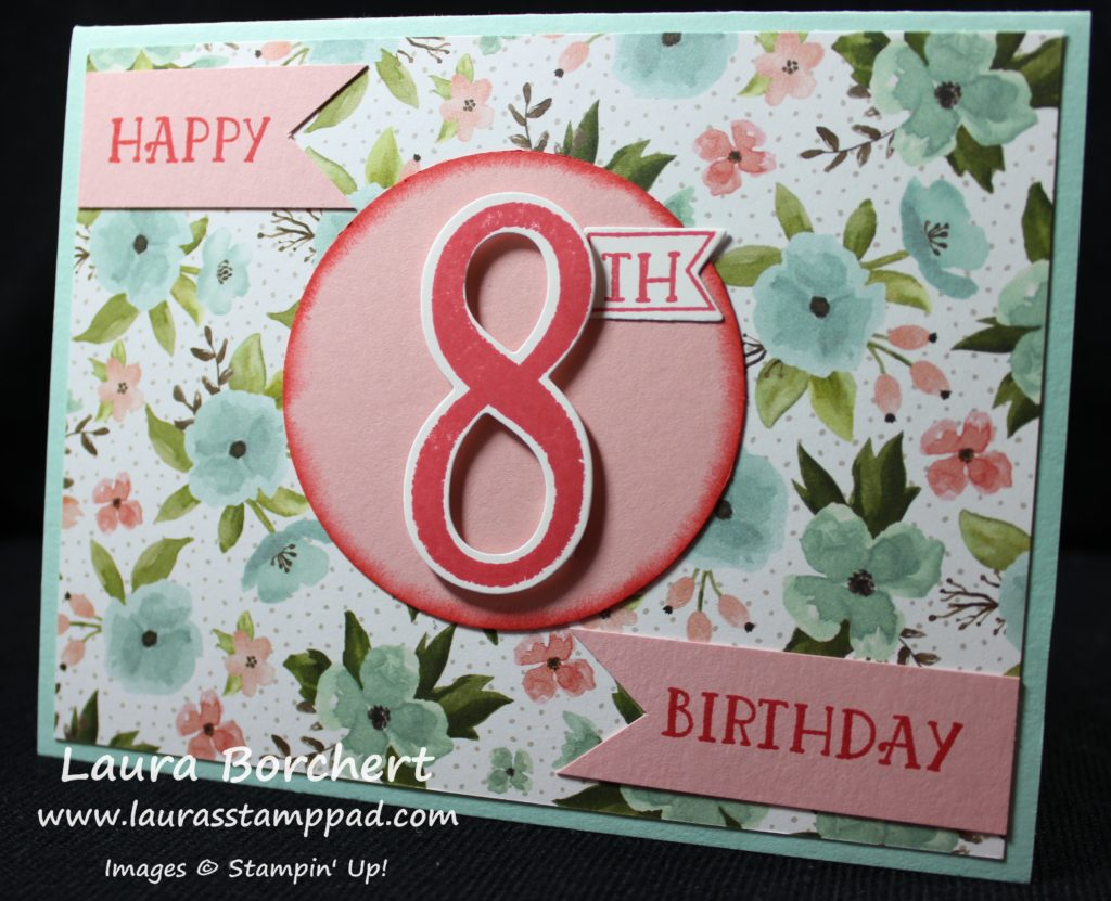 8th Birthday, www.LaurasStampPad.com