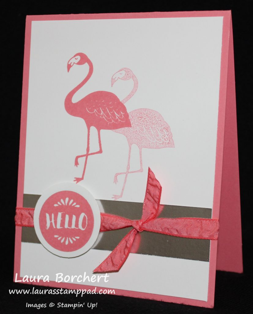 Flirty Flamingo, www.LaurasStampPad.com