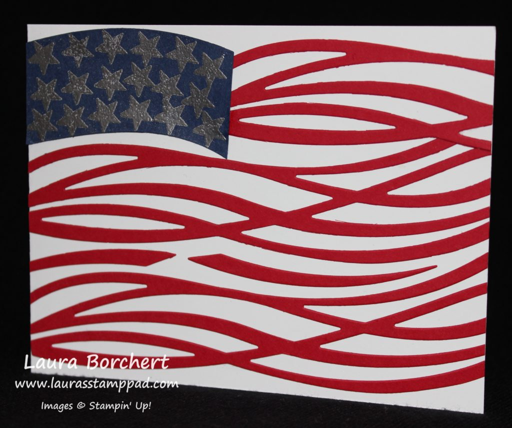 Swirly Flag, www.LaurasStampPad.com