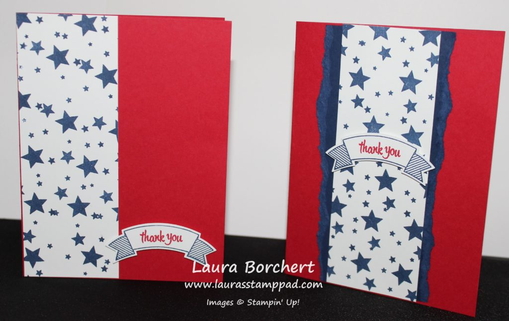 Red, White, & Blue, www.LaurasStampPad.com