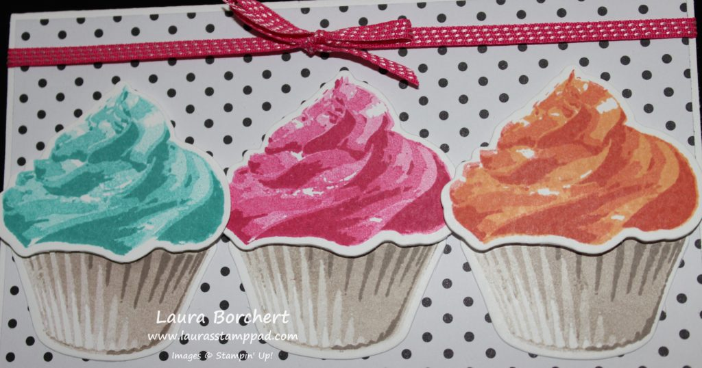 Colorful Cupcakes, www.LaurasStampPad.com