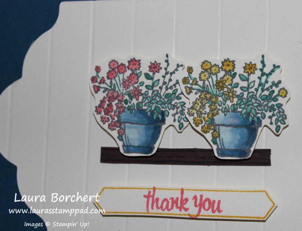 Flower Pots, www.LaurasStampPad.com