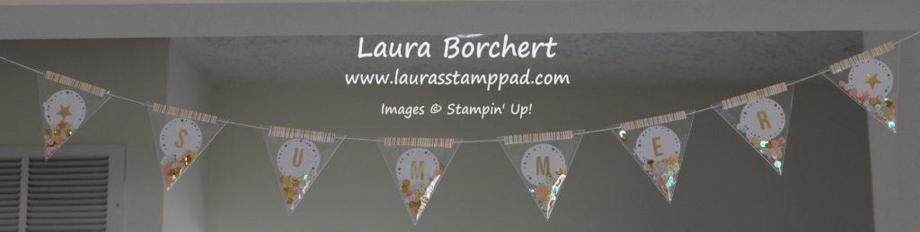 Hanging Summer Banner, www.LaurasStampPad.com