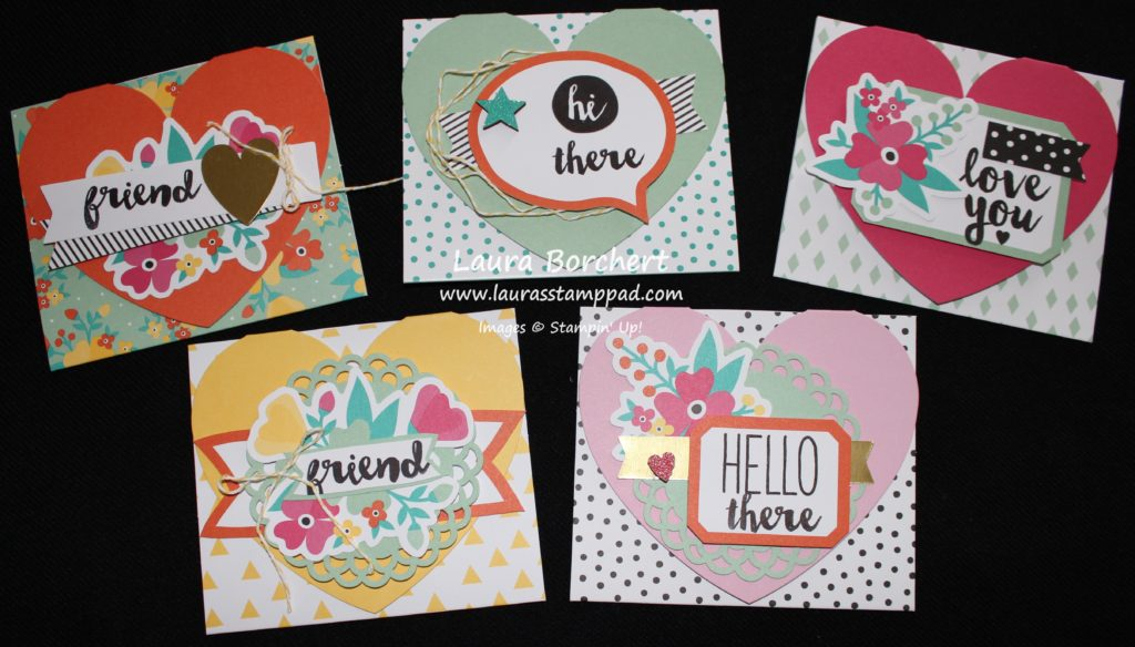 Heart Flap Cards, www.LaurasStampPad.com