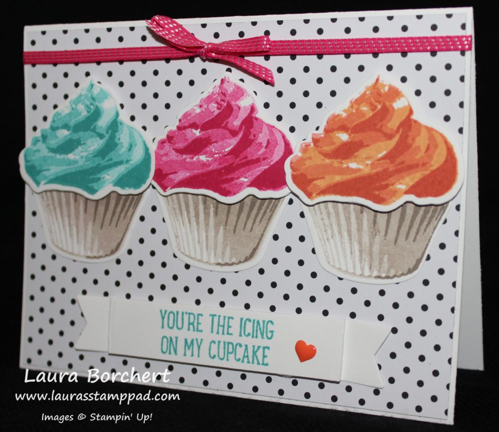 Icing on my Cupcake, www.LaurasStampPad.com