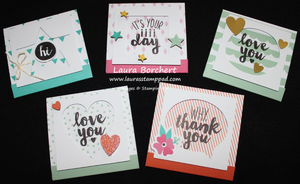 Matchbook Cards, www.LaurasStampPad.com