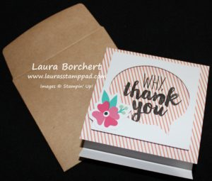 Matchbook Thank You, www.LaurasStampPad.com