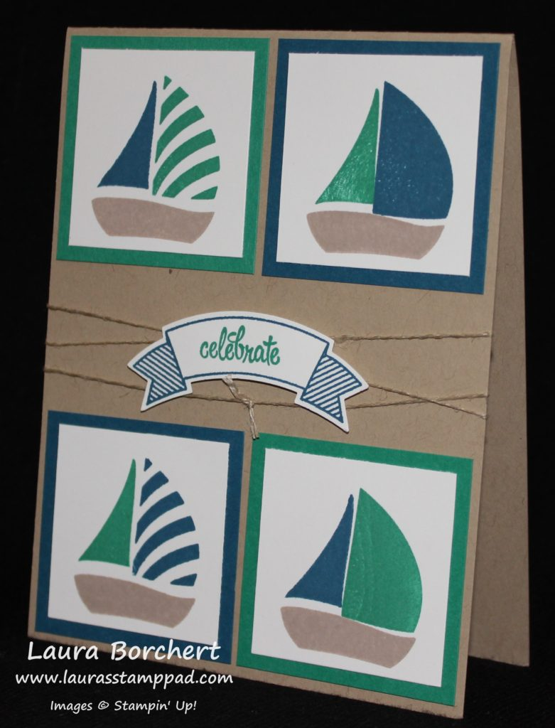 Sailboats, www.LaurasStampPad.com