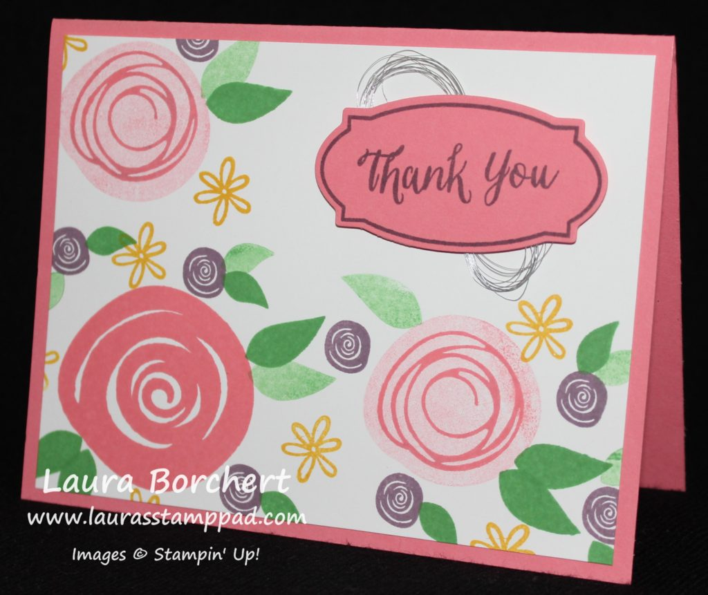 Swirly Flowers, www.LaurasStampPad.com