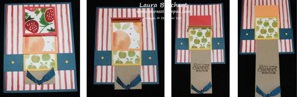 Collage of Waterfall Card, www.LaurasStampPad.com