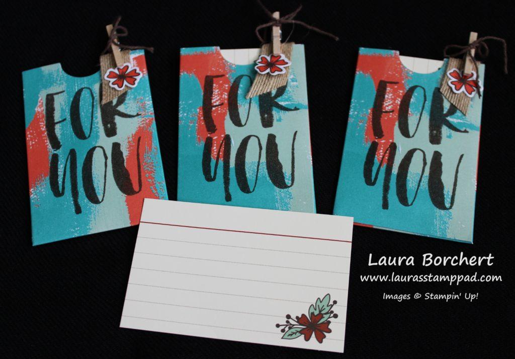Giftcard Holders, www.LaurasStampPad.com